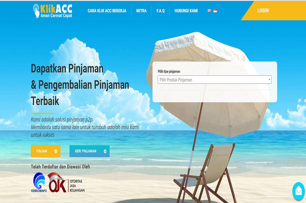 Klik Acc Tawarkan Lebih Dari Satu Produk Pinjaman Dunia Fintech