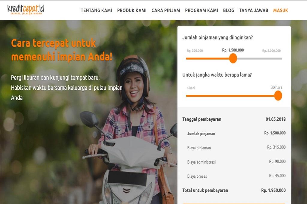 Kreditcepat Tawarkan Pinjaman Tanpa Agunan Dunia Fintech