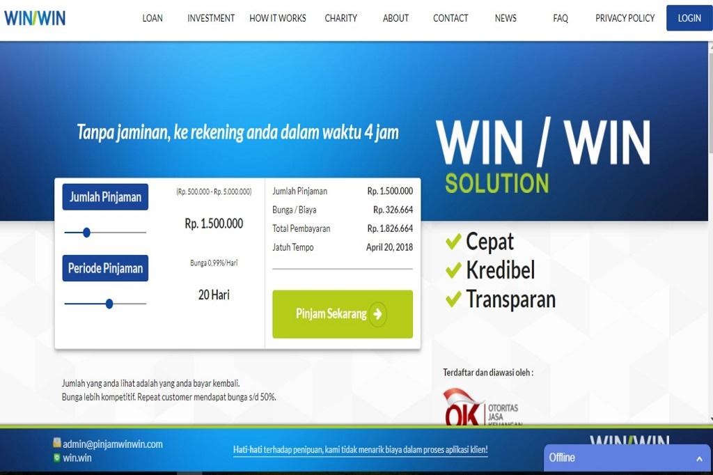 Di Winwin Dana Pinjaman Cair 4 Jam Dunia Fintech