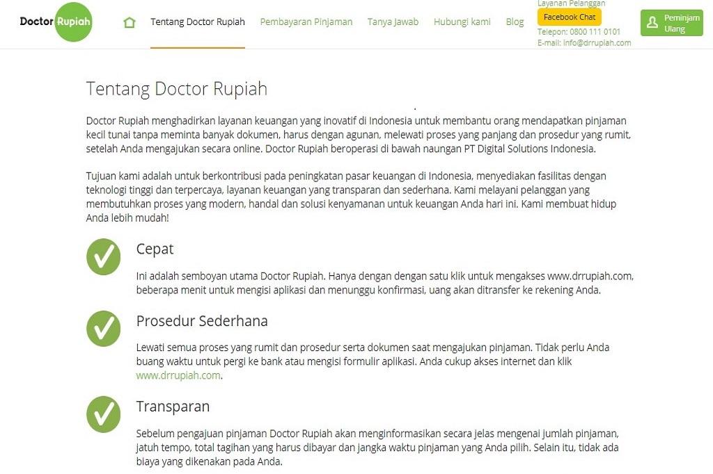 Doctor Rupiah Melayani Urusan Pinjam Meminjam Dunia Fintech