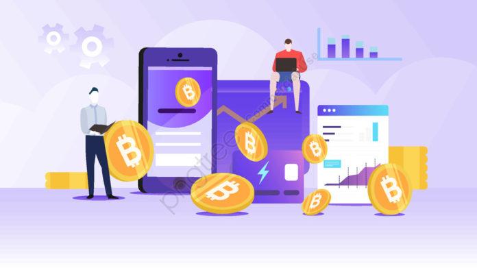 Ilustrasi harga tertinggi Bitcoin