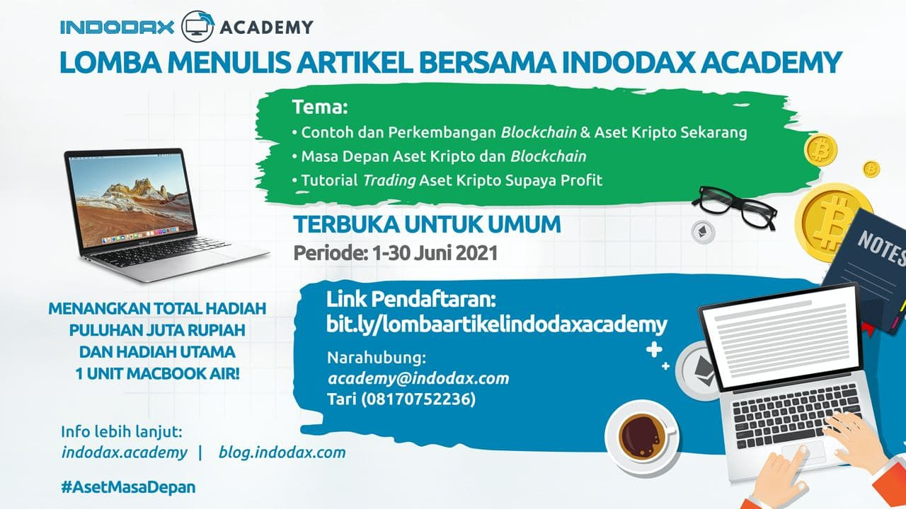 Indodax Academy Gelar Lomba Menulis dengan Hadiah Puluhan Juta Rupiah